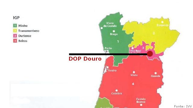 mapa do douro portugal Mapas da Região Vinhos do Douro Guia de Vinhos Portugal portal Top  mapa do douro portugal